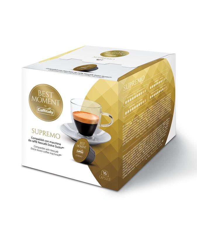 SUPREMO ( 1 капсула), совместима с кофемашинами системы Nescafe Dolce Gusto